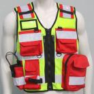 1st Aid / Medic Duty Vest - Red Pockets