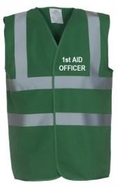Safety Vest - 1st Aid Officer - Warden Medic Green