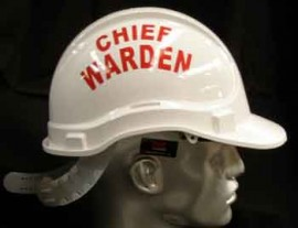 Warden Helmet - CHIEF WARDEN