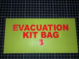 Evacuation Warden Kit Bag Location Sign