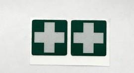 1st Aid Helmet Stickers PAIR