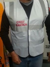 Safety Vest - DEPUTY CHIEF WARDEN - WHITE