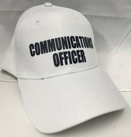Communications Officer Peak Cap - WHITE