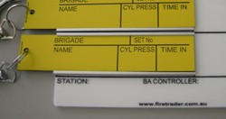 Breathing Apparatus Staging Tally Tags