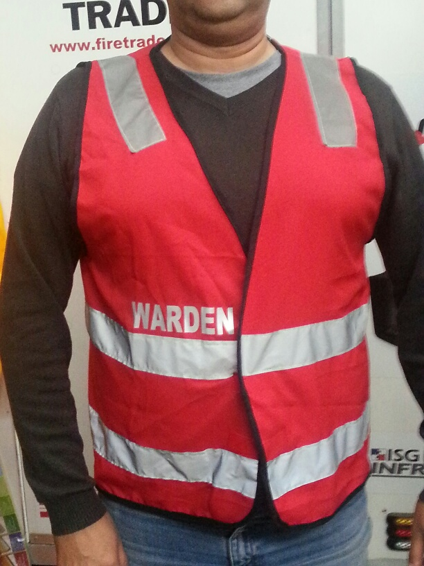 Safety Vest Warden Red Emergency Management Products
